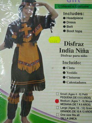 Disfraz niña india 6-7 años aproximadamente
