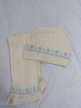 bufanda y gorro hasta 2 años