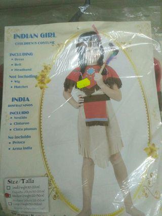 Disfraz india 6-7 años