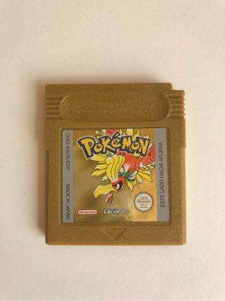 Pokemon edición oro Game Boy