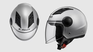 Casco moto LS2 Air Flow Talla S Plateado