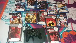 play station2 + 12 juegos