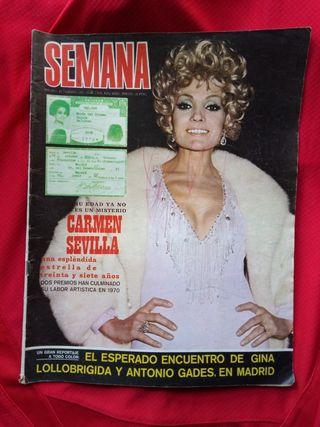 REVISTA SEMANA AÑO 1971
