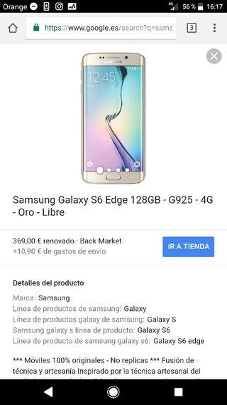 samsung s6 edge 128 gb ( el que vendo es mas caro)