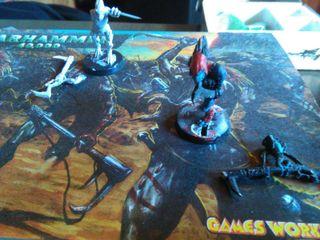 Escuadra Carnivora Kroot y Gran Kroot de plomo