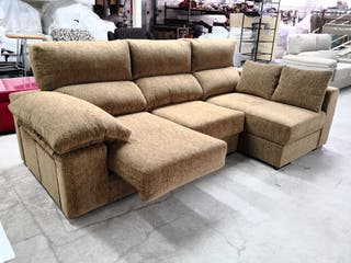 Sofá 275 cm Extraible Reclinable Arcon 2 pouf