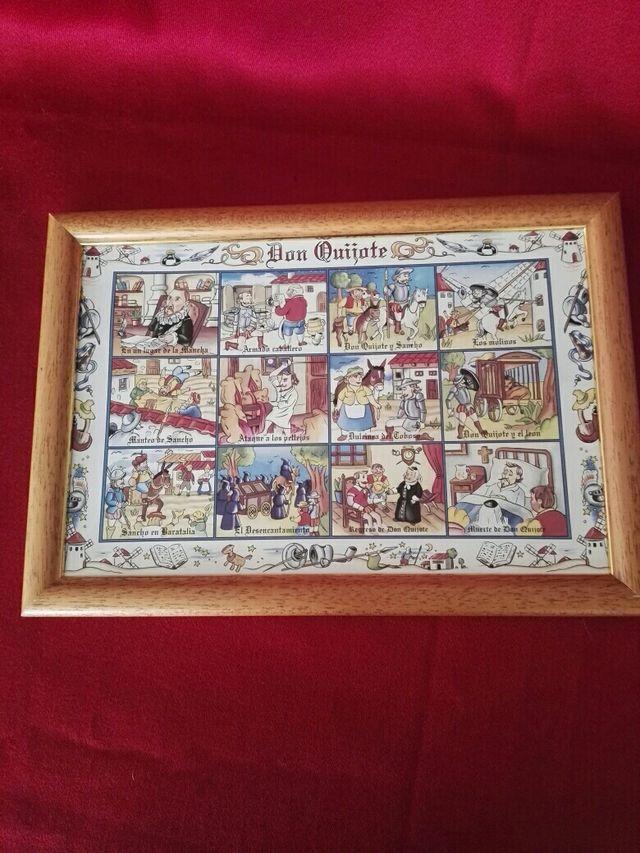 cuadro de cerámica don Quijote de la Mancha
