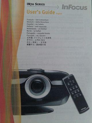 proyector cine Infocus +pantalla automatica