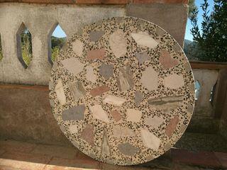 Mesa mármol exterior