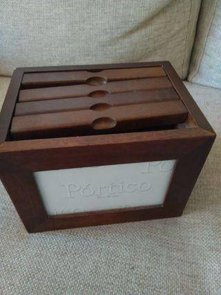 Porta fotos archivador Portico, madera.