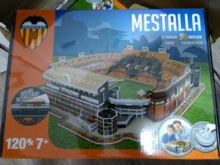 maqueta valencia Mestalla 3d puzzle