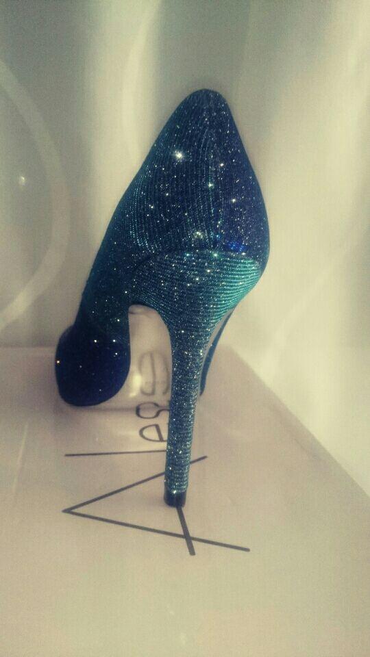 Zapatos de mujer con tacón(stiletto)azul 37