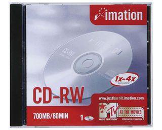 5 CD-RW 700MB 80MIN REGRABABLE NUEVOS