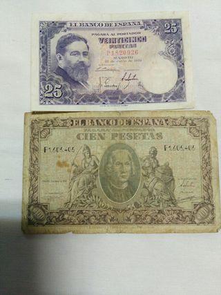 Billetes de pesetas