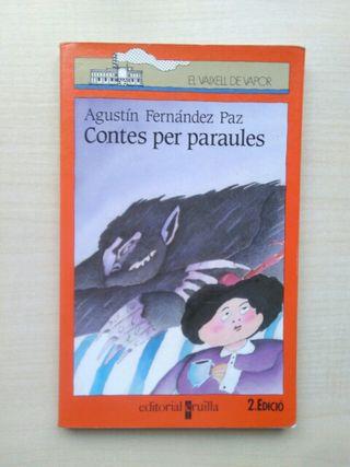 Libro contes per paraules. Agustín Fernández Paz.