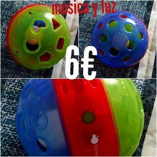 bolas, pelotas luminosas, volante, espiral