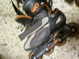 patines y bolsa decatlon talla 38