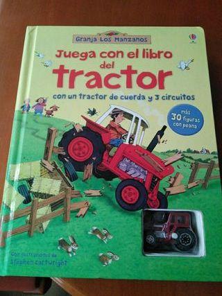 cuento juega con el libro del tractor
