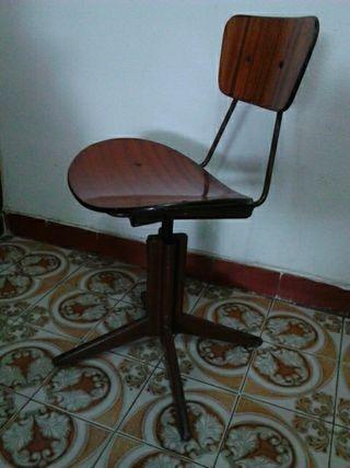 Sillas de escritorio vintage de segunda mano en wallapop for Sillas vintage segunda mano