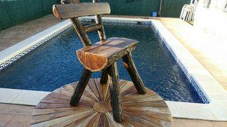 Mesa y 4 sillas jardin