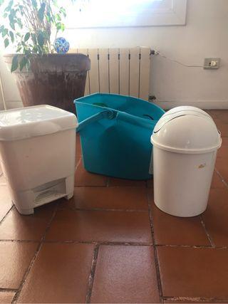 Cubo fregar suelo, basurero