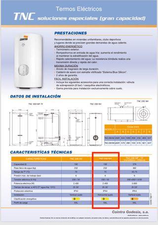 Termo Eléctrico 200 Litros Hz