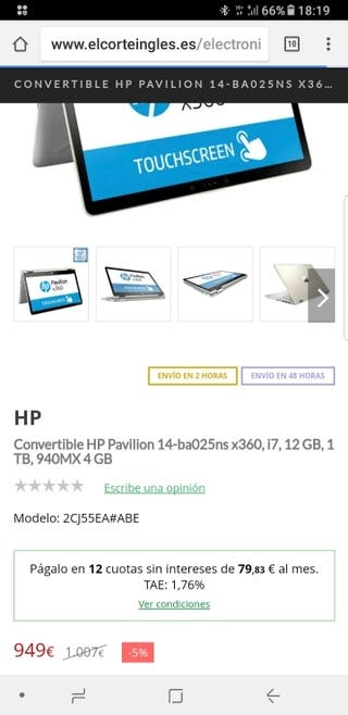 Convertible HP Pavilion 14-ba025ns