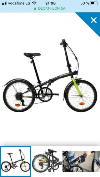 Bicicleta plegable btwin