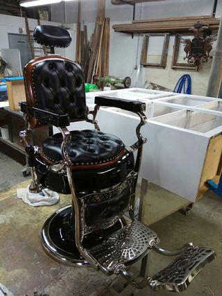 Espectacular sillón de barbero antiguo Jaso