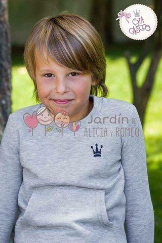 Sudadera Eva castro gris niño talla 2