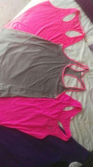 tres camisetas Gym