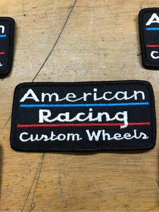 Parche tela american racing