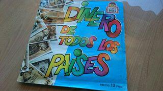 Álbum cromos DINERO DE TODOS LOS PAISES