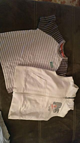 conjunto camiseta y chaleco talla 3-4 años