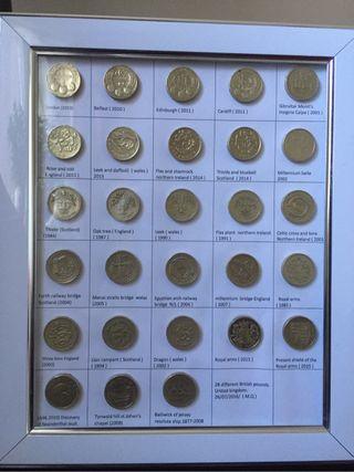 1 pound coins set of 28.