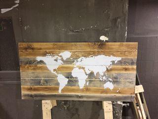 Mapa mundi cuadro