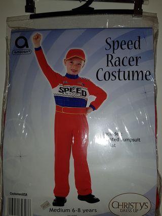 Disfraz Piloto Fórmula 1. Talla 5-6 ¡SIN ESTRENAR!