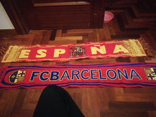 bufanda dd españa o del barcelona