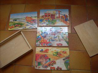 caja puzzles de madera