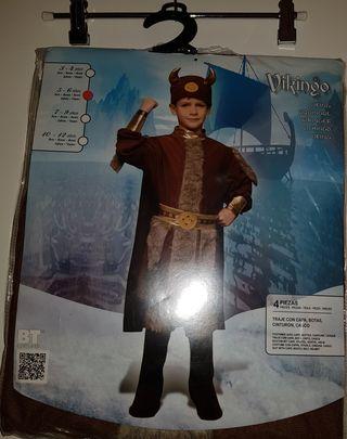 Disfraz Vikingo. Talla 5-6 años. ¡SIN ESTRENAR!