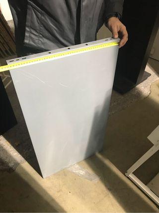40 Baldas metálica gris 900x500 mm