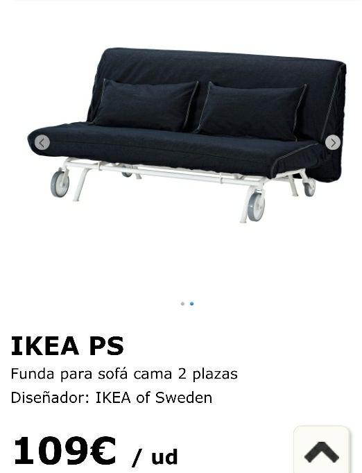 Funda sof cama ikea 2 plazas de segunda mano por 50 en for Sofa cama de dos plazas ikea