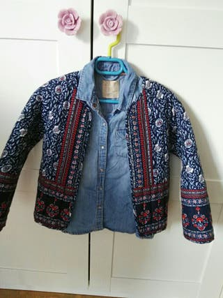 camisa vaquera mas chaqueta acolchada