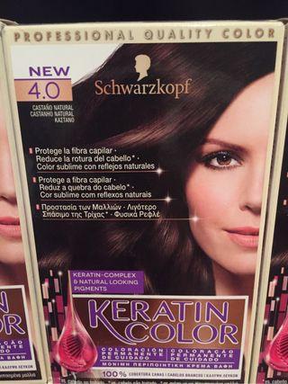 3 cajas Tinte cabello
