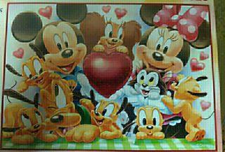 Puzzle 200 piezas familia Mickey Mouse y Pluto