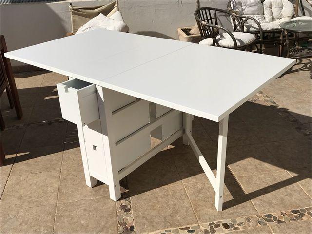 Mesa cocina ikea de segunda mano por 85 en playa playa for Mesa plegable ikea segunda mano
