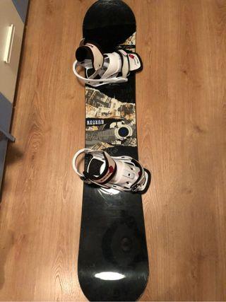Tabla snowboard burton fijacio