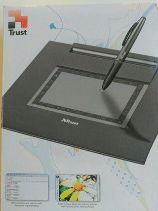 Tablet a de diseño gráfico