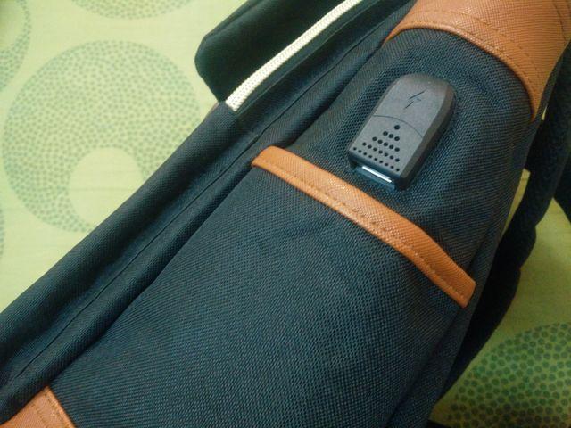 Mochila elegante con puerto USB [NUEVO]
