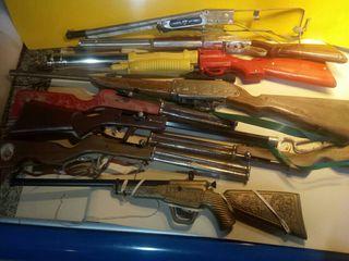 lote de escopetas de juguete
